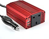 BESTEK 300W Power Inverter Car DC 12V to 230V AC Inverter Adapter USB Charger Dual USB 3.1A Vehicle Power Supply car adapter laptop charger Camping inverter adapter notebook adapter backup power supply emergency power charger power(UK Socket) MRI3013BU-UK PLUG