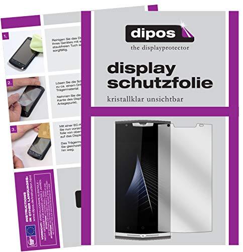 dipos I 2X Schutzfolie klar passend für Oukitel K10000 Pro Folie Bildschirmschutzfolie