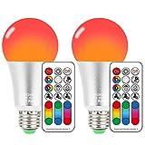 E27 LED RGBW Lampe mit Fernbedienung 10W Dimmbar Farbige Leuchtmittel Licht, 12 Farben, Dual Memory Funktion, AC85-265V für Disco, Bar, Party, Home Stimmungslicht, KTV Bühneneffekt Lichter