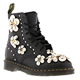 Dr. Martens Pascal Flower 23315001 Damen Hydro Leather Black Schwarz 8-Loch, Groesse:38 EU/5 UK/7 US