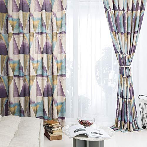 Gedruckte Baumwolle Vorhänge für Wohnzimmer lila dicke Drapes für Schlafzimmer Fenster Behandlungen Panel Küche Schlafzimmer Kinderzimmer Verdunkelung Vorhänge 2 X 46