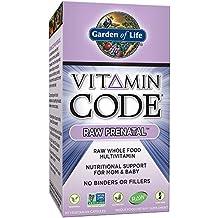 Garden of Life - Ayuda alimenticia prenatal CRUDA del código de la vitamina para la mamá y el bebé - 90cápsulas vegetarianas