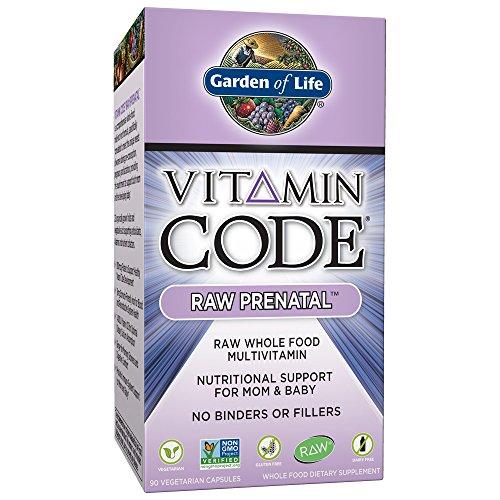 Garden of Life - Sostegno nutrizionale prenatale GREZZO di codice della vitamina il Mom & il bambino - 90 Capsule vegetariane