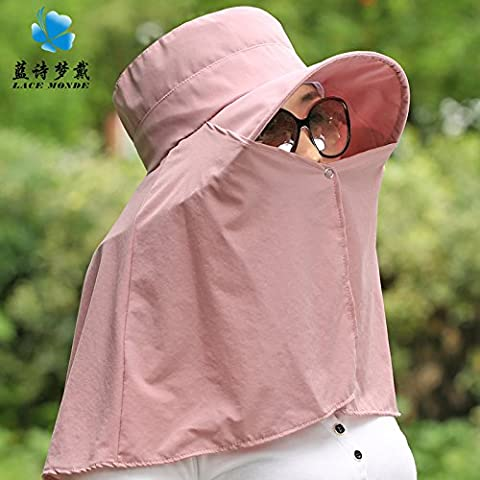 ZHANGYONG*Femme chapeau pare-soleil crème solaire l'été en plein air face noire UV cap chapeau pliable Beach Tour , les bouchons sont des fumeurs adultes , Code
