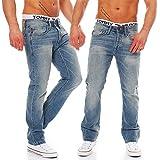 JACK & JONES Herren Jeans Clark, Blau (Blue Denim), 34W x 34L (Hersteller Größe:34W x 34L)