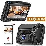 Oasser Cámara Coche Grabadora Dashcam 4K 2160P WiFi GPS Amplio Ángulo 170° Visión Nocturna G-Sensor Ultra HD WDR Súper Condensador Grabación en Bucle Detección de Movimiento Pantalla IPS de 3″