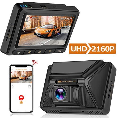 Oasser Dash CAM Cámara Coche Grabadora WiFi 4K 2160P
