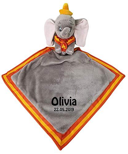 Hoolaroo Schmusetuch Disney Dumbo, personalisierbar, weich