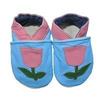 Soft Leather Baby Shoe Girls Tulips (6-12m)