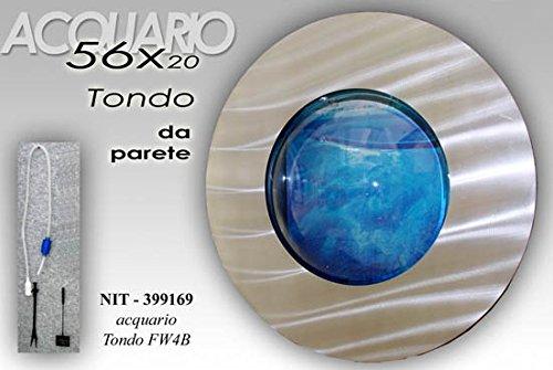Gicos Detalles Sobre Acuario Redondo + Accesorios de Pared con Marco diseño...