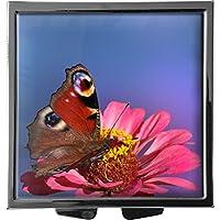 metALUm Pillendose/quadratisch / Modell Marco/Schmetterling auf Blüte / 41010011 preisvergleich bei billige-tabletten.eu