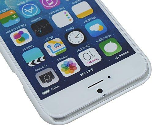 Original Suncase *ECHT LEDER* Flip-Style Ledertasche für das iPhone 6s Plus (5.5 Zoll) | iPhone 6 Plus (5.5 Zoll) mit Kartenfach Tasche Handytasche Case Etui Hülle in antik - braun (sand) Flip Vollnarbig-Weiss