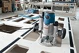 Bosch Professional GOF 1600 CE Oberfräse, 8/12 mm Spannzange, Absaugadapter, Parallelanschlag, Spannzangen, Zentrierstift, 1.600 W, L-Boxx -