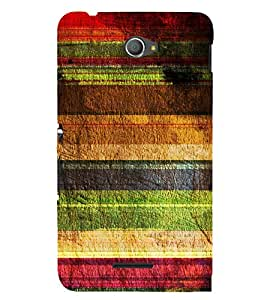 Multicolour Layer Pattern 3D Hard Polycarbonate Designer Back Case Cover for Sony Xperia E4 Dual