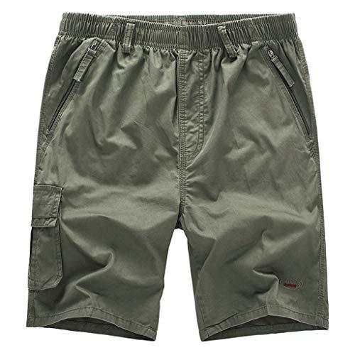 Sonnena Herren Sommer Werkzeughose, Loose Outdoors Freizeithosen Multi-Pocket Tarnung Cargo Pants Casual Grosse grössen Trainingshose Sporthose Strand Shorts Beachshorts Sweatshorts