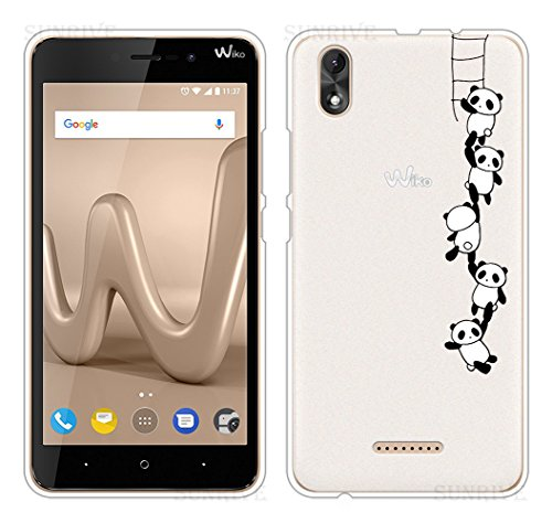 Für Wiko LENNY 4 PLUS Hülle Silikon,Sunrive Handyhülle Schutzhülle Etui Case Backcover für Wiko LENNY 4 PLUS 5,5 Zoll(tpu Panda 1)+Gratis Universal Eingabestift