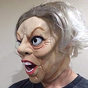 The Rubber Plantation 619219292443 Theresa May Mask - Disfraz de Halloween de látex, para mujer, talla única