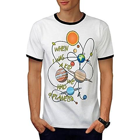 Quand je Était UNE Enfant Solaire Système Men M T-shirt à sonnerie | Wellcoda