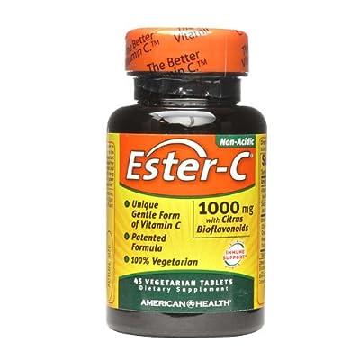 Ester C 1000mg w/ Citrus Bioflavanoids 45 Vegitabs from American Health
