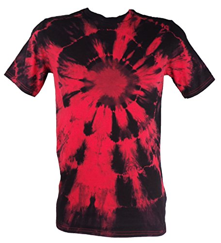 Tie Dye Red Electric Eye T-Shirt T-Shirt 2XL (Dye Red Tie)