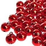 100 laute rote Glöckchen Schellen mit Öse - ca. 17x13 mm - Aus Kupfer - Kleenes Traumhandel®