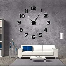 9599b9afb775 jasonding DIY Reloj De Pared Gigante Simple Diseño Moderno DIY Efecto  Espejo 3D Grandes Números De