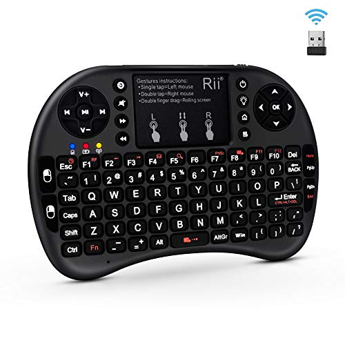 Riitek Rii I8+ Wireless Touchpad Keyboard with Mouse (Black)