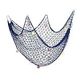 Decorazioni di reti da pesca decorative AOFOX, decorazioni per feste a tema Pirate Beach in oceano mediterraneo