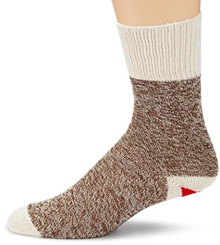 Fox River Cotton Blend Red Heel Monkey Socks 2 Pairs-Size 6-7 Small Brown Heather