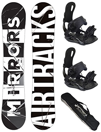 Airtracks Snowboard Set - Board Mirrors 159 - Softbindung Master L - SB Bag -