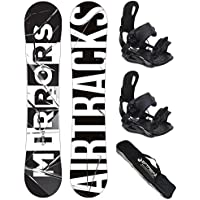 Fixations Master Chaussures SB Sac // 152 156 159 162 cm AIRTRACKS Snowboard Set//Pack//Planche Places Wide