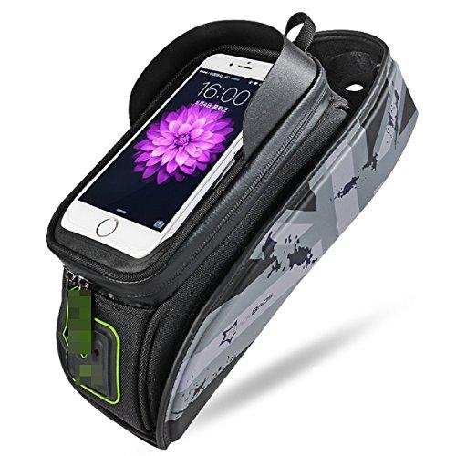 OGTOP Mountainbike Tasche Fronttasche Tasche Telefon Wasserdichte Satteltasche Zubehör 3