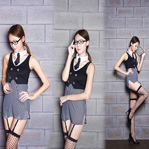 KEDCD Handschellen Sexspielzeug Mitternacht erotische Anime Uniform Sekretär geladen Lehrer Kostüm