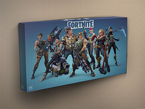 Fortnite - Heroes Stretched & Mounted Canvas Art