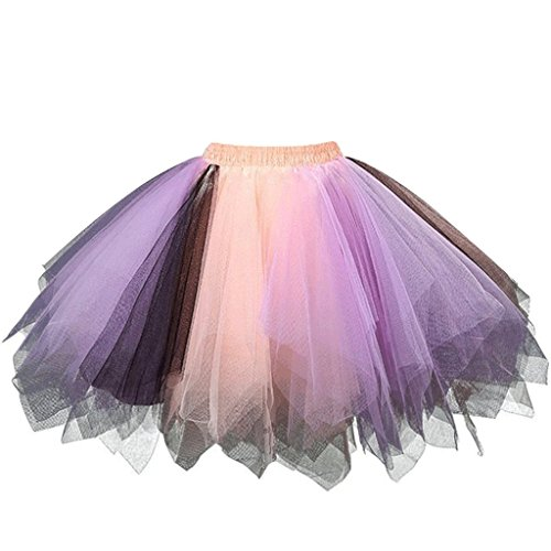 intage Petticoat Party Dance Tutu Rock Ballkleid Orange-Lavendel 2XL (Halloween Band Rock)