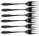 Tenedores y cucharillas de acero inoxidable, para tartas/Hielo/Cóctel/tartas/postre/café/Bebidas 6 pezzi Forchetta Dolce