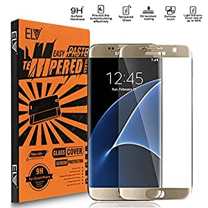 ELV Tempered Glass Screen Protector for Samsung Galaxy S7 Edge - Gold