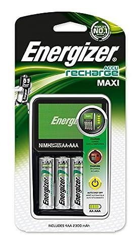 Energizer Akku-Ladegerät (Maxi Charger inkl. 4xAA 2300mAh