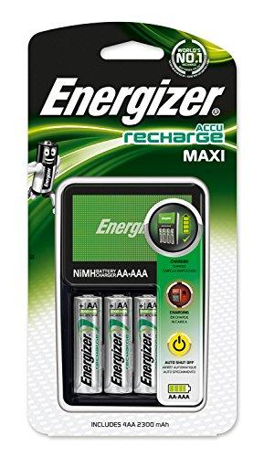 Energizer 7638900325645 Akku-Ladegerät (Maxi Charger inkl. 4xAA 2300mAh Akkus) (Energizer Akku-ladegerät 9v)