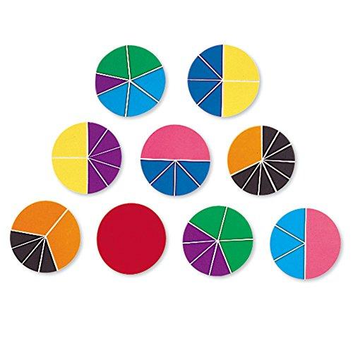 Learning Resources LER0617 Deluxe-Bruchrechenkreise in Regenbogenfarben - Und Addieren Von Zahlen Subtrahieren Ganzen