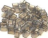 LEGO City - 50 transparent schwarz / smoke Steine mit 1x2 Noppen