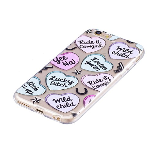 "Coque pour Apple iPhone 6S Plus / 6 Plus , IJIA Transparent Fries Hamburgers Pizza TPU Doux Silicone Bumper Case Cover Shell Housse Etui pour Apple iPhone 6S Plus / 6 Plus (5.5"") LF5"