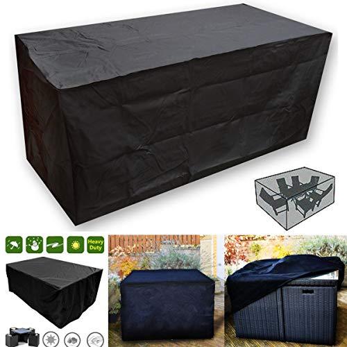 EgBert Oxbridgeblack Imperméable en Rotin Cube Jardin Extérieur Patio Meubles Table Ensemble Couverture Protection