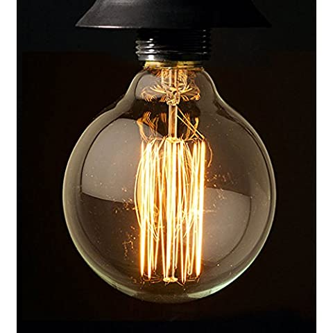 Edison EXPG9560W Globo Lámpara de mesa 60 W E27, diseño de diámetro, 95 mm decorativa Bombilla incandescente