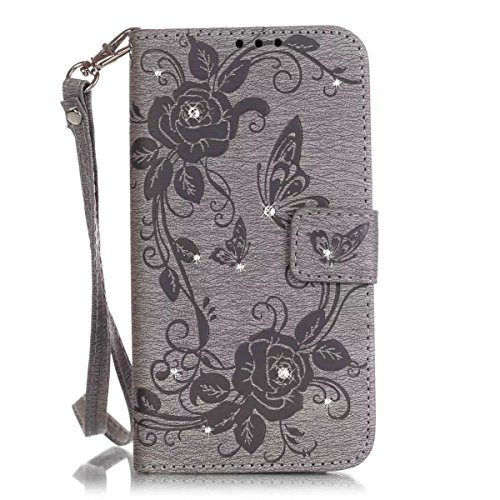 iPhone Case Cover Peint de couleur diamant motif Wallet Style Case Magnétique Design Flip Folio PU Housse en cuir Cover Standup Cover pour IPhone 6S 6 4,7 pouces ( Color : Brown , Size : IPhone 6S 6 ) Gray