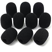 10piezas parrilla micrófono parabrisas Esponja cubierta de espuma negro micrófono