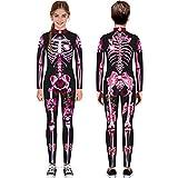 AG&T Vêtements Halloween Garçon Fille Grenouillères Pyjama Squelette Bodys Hiver...
