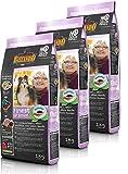 Belcando Hunde Trockenfutter - 3X Finest Senior mit Geflügel 1kg - Getreidefrei Hundefutter für Junge Hunde - leichtverdaulich und Premiumqualität