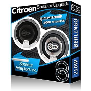 Porte avant pour Citroen Berlingo Orateurs FLI Haut-parleurs de voiture haut-parleur + Adaptateurs 210W