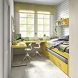 Jugendzimmer Vita 30 Bett mit Gästebett für kleine Räume Kinderzimmer Schreibtisch Regal Eckschreibtisch modernes Design freie Farbwahl